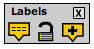 The labeling tools palette in the image viewer